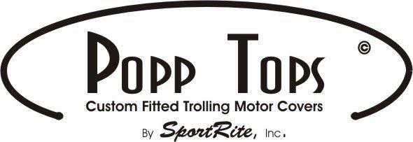 "BLACK Minn Kota Trolling Motor Cover  By PoppTops Fits ULTERRA w//45/"" Shaft"