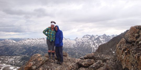 Mount Lester with son Mason