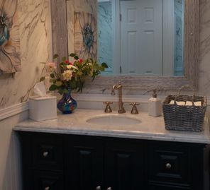 Women's Vanity in Grand Suite Luxury Mobile Restroom Presidential 8 -station trailer