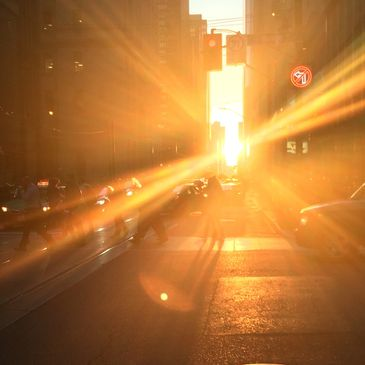 Sunset at King and Yonge intersection. Photo by Marnie Grona.
