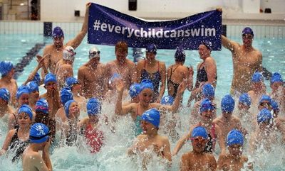 #everychildcanswim campaign, 2014, that aims promote getting more young people learning to swim