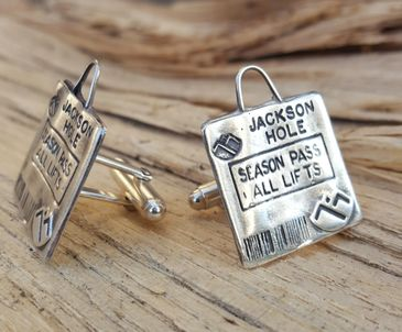 sterling silver ski powder cuff links cufflinks jewelry gifts