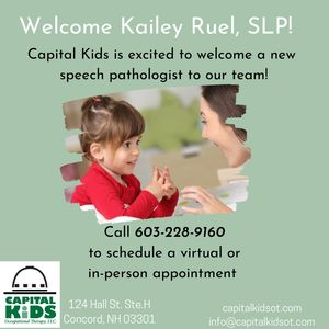 Welcome announcement for Kailey Ruel Speech Language Pathologist