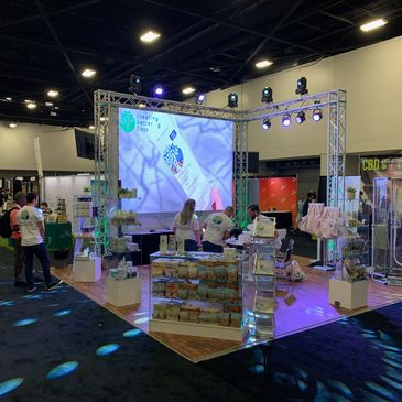 Creating Better Days Expo Booth, Audio, Lighting, Event Planning, Event Production, AV, audio visual, Corporate Event, Video Wall