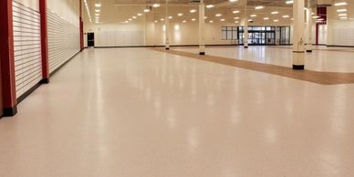 Commercial resilient flooring for a department store