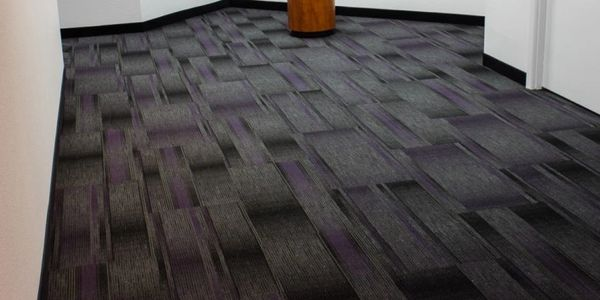 Commercial carpet in a hallway