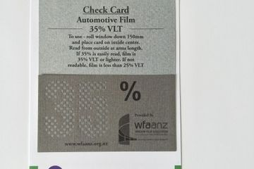 35% VLT automotive film check card
