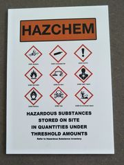 HazChem sign