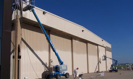exterior commerical spray painting