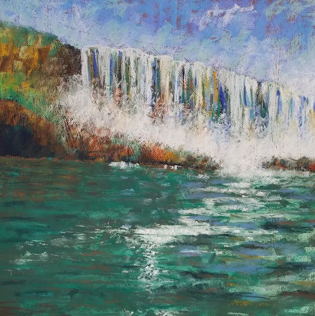 Waterfall painting by Debi Peters from Niagara Falls, NY