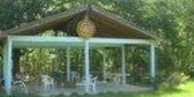 The outdoor Pavilion is great for events encircled by the secluded pasture its a special space.