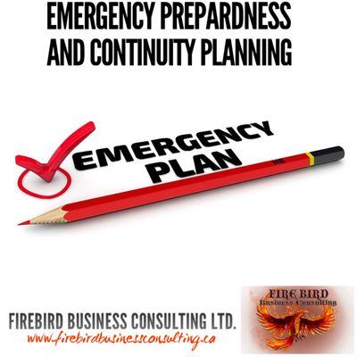 Emergency Prepardness and Continuity Planning - Firebird Business Consulting - Saskatoon - Regina