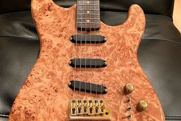 Moonstone Burl Maple Strat,  of of a kind stratocaster by Ken Lawrence.