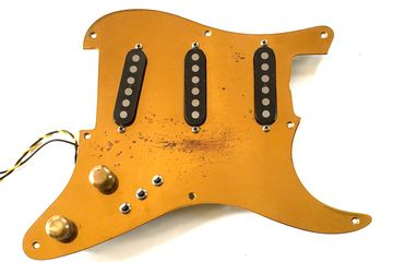 Schecter Strat F500T Tapped Pickups Brass Assembly