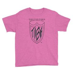 A lightweight youth tee, made of 100% cotton (except for heather colors, which contain polyester).