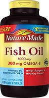 Nature Made Fish Oil 1000 mg w. Omega-3 300 mg Softgels 250 Count Mega Size