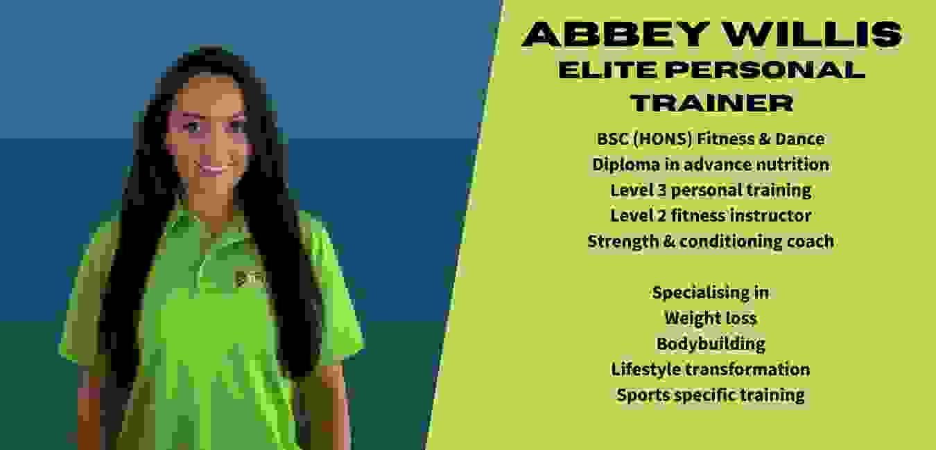 Elite personal trainer for bodybuilding weight loss. Abbey is a world champion bikini champion
