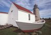 Lighthouse and Rescue Boat, Monhegan Island, Maine