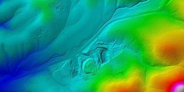 Digital Elevation Model produced with Pix4D by Cloud Data UAV Services.