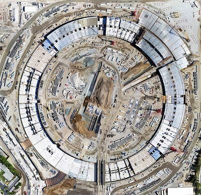 UAV Mapping the Apple Campus in Cupertino, CA