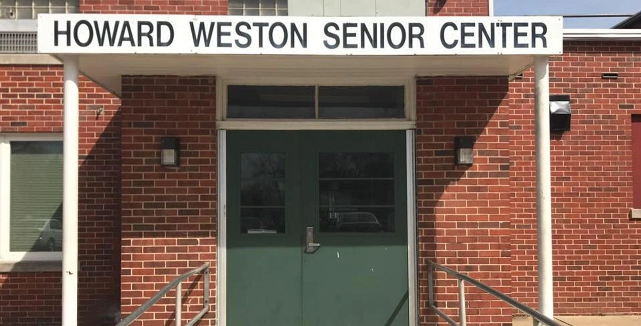 The entrance to the amazing Howard J. Weston Community & Senior Center!