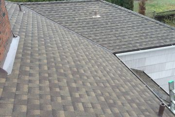 Lifetime roofing with metal valleys, ridge vent and lead plumbing pipes, gaf timberline hd shingle