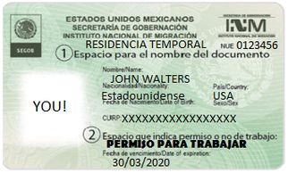 WORKING MEXICO GREEN CARD