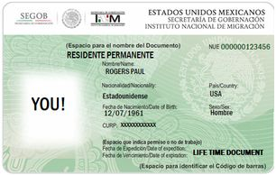 PERMANENT MEXICO GREEN CARD
