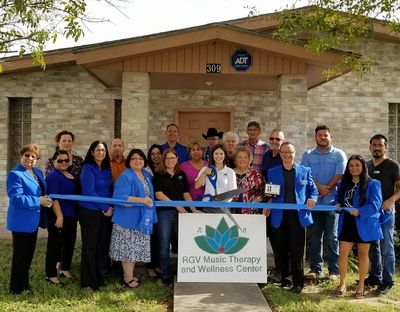 Ribbon cutting event for RGV Music Therapy and Wellness Center, 2017