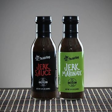 The Jerk Kings' new product line of their specialty Jerk Marinade and Jerk Sauce