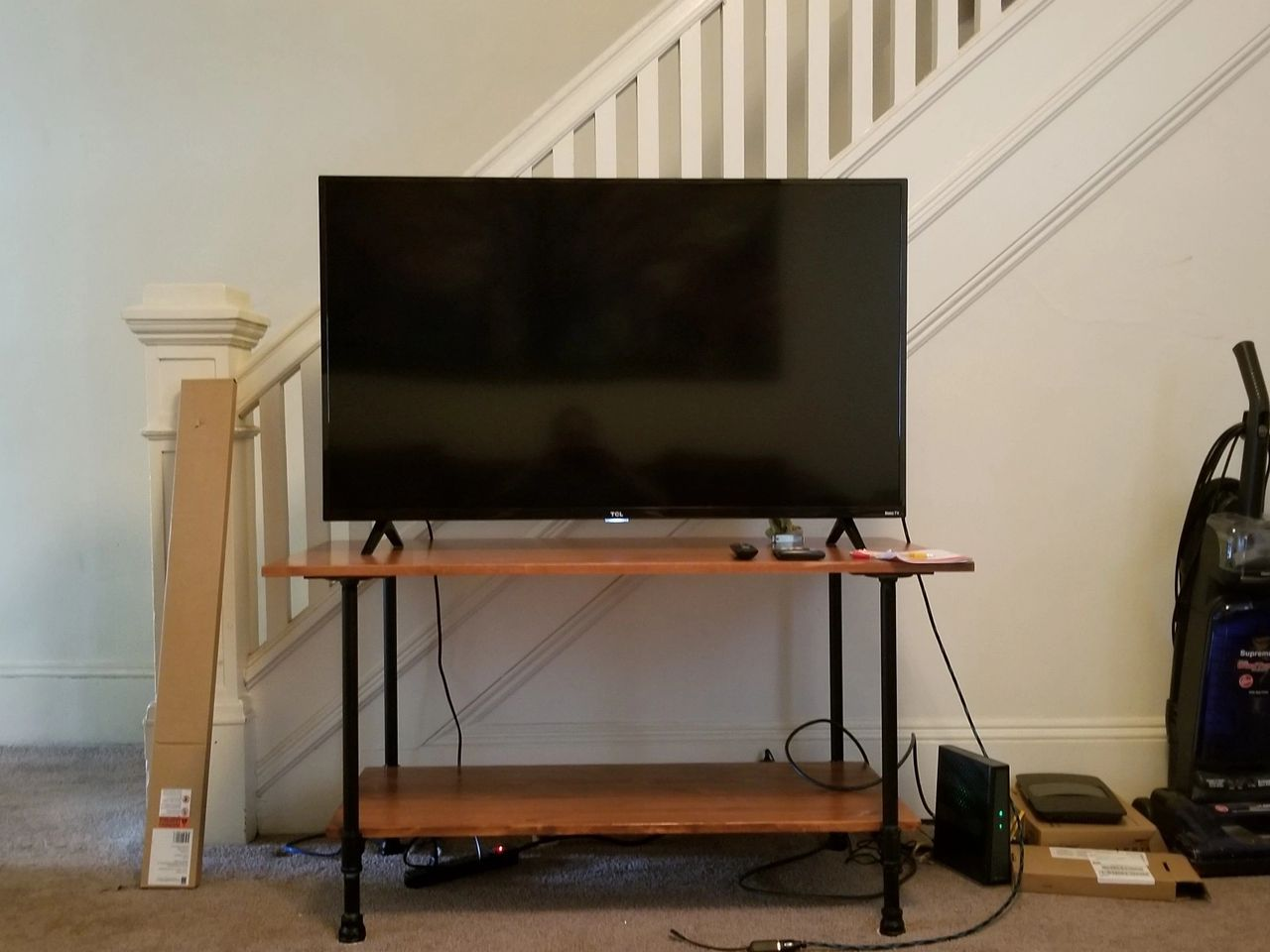 Vigilante justice exhibit C: a TV stand for streaming devices; photo supplied by James GoydoVigilante justice exhibit C: a TV stand for streaming devices; photo supplied by James Goydos, M.D.