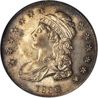 1836 Capped Bust Half Dollar Lettered Edge NGC MS65