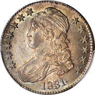 1831 Capped Bust Half Dollar PCGS MS-64+