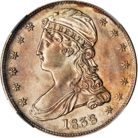 1838 Capped Bust Half Dollar Reeded Edge NGC MS61