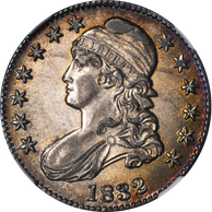 1832 Capped Bust Half Dollar Small Letters NGC MS62