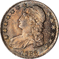 1833 Capped Bust Half Dollar PCGS MS65