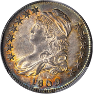 1809 Capped Bust Half Dollar PCGS MS62