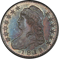 1818-7 O-101A 50C LARGE 8 PCGS MS62 EX LINK