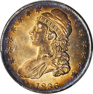 1836 Capped Bust Half Dollar Lettered Edge PCGS AU58