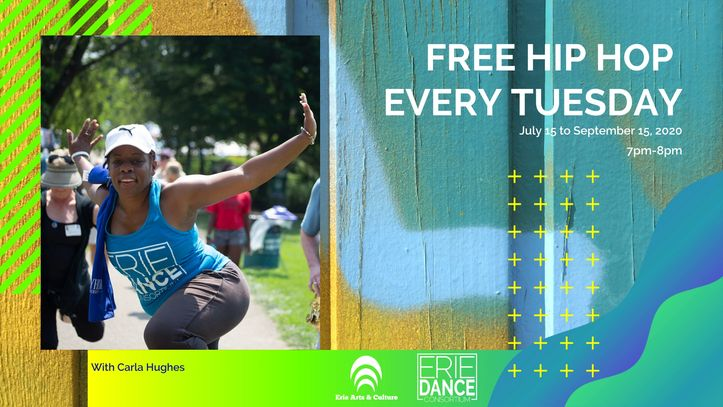Join us and Miss Carla Hughes for a weekly hip hop, fitness, feel good time. Please register to sign
