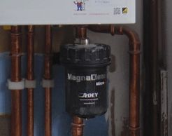 Magnetic system filters installations to protect your gas boiler and heating system from magnetite