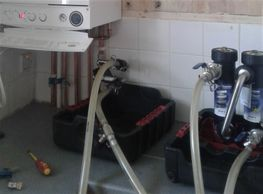Gas heating system cleaning and flushing system by Yorkhill Gas Ltd.
