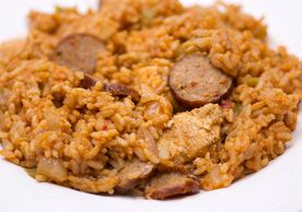 Jambalaya is a Louisiana-origin dish of Spanish and French influence,