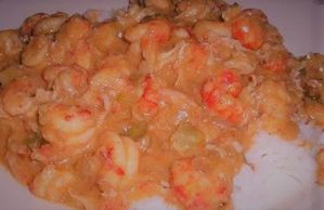 Étouffée or etouffee is a dish found in both Cajun and Creole cuisine in Loisiana
