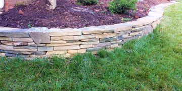 Stone wall in Raleigh, NC