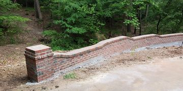 Brick Retaining Wall in Raleigh, NC