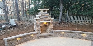 Outdoor Fireplace Instalation