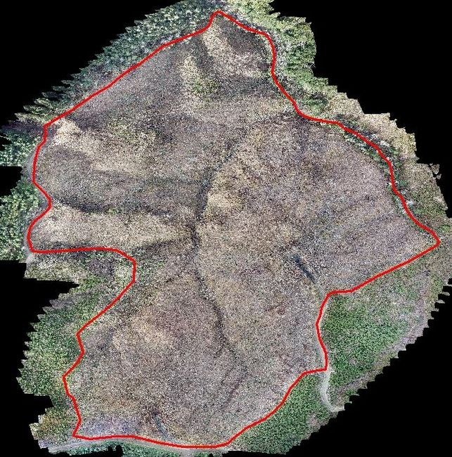 Example of harvest unit depletion image overlaid in ArcMap