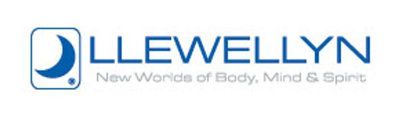 Llewellyn Worldwide Logo with blue crescent moon: New Worlds of Body, Mind, and Spirit