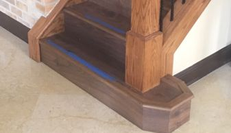 custom staircase precision wood flooring